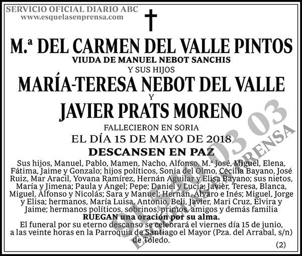 M.ª del Carmen del Valle Pintos